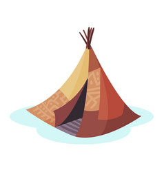 wigwam traditional house of north nations of vector image