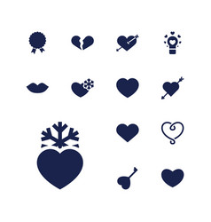 13 passion icons vector