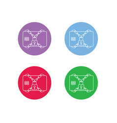 3d-security-plastic-card-icon-button vector image