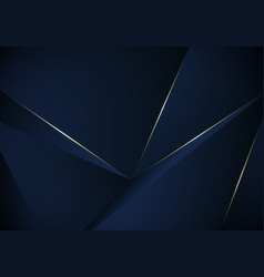 abstract 3d blue low polygon pattern background vector image