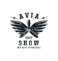 Air show emblem vector
