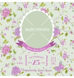 Baarrival card - with photo frame vector