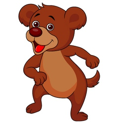 Baby bear cartoon dancing vector image