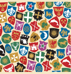 Background pattern with coat of arms collection vector