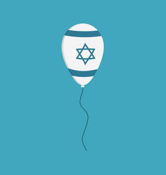 balloon with israel flag styled icon in flat vector image