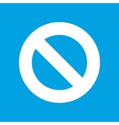 Ban white icon vector