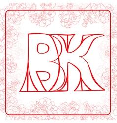 BK monogram vector