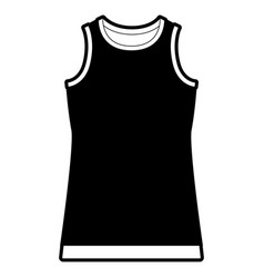 black sections silhouette of t-shirt without vector image