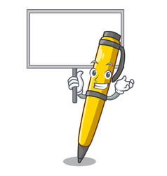 Bring board pen shape that on a cartoon vector