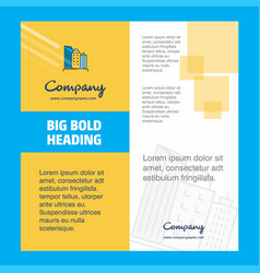 buildings company brochure title page design vector image