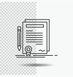 Business certificate contract degree document vector