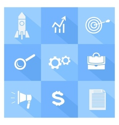 Business SEO and social media marketing icons vector image