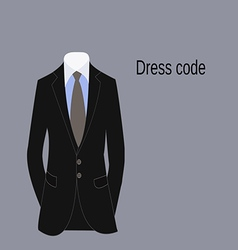 Business suit of businessman dress code vector image