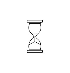 Business time management and deadline line icon vector