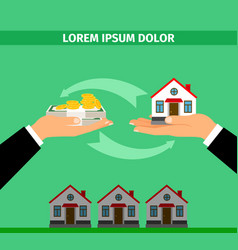 buy house convert into cash banner vector image