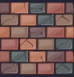Cartoon colored stone wall texture vector