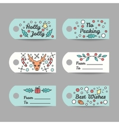 Christmas Gift Tags With Typography New Year vector