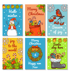 christmas invitation cards vector image