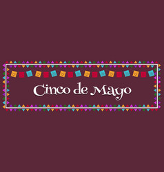 cinco de mayo - may 5 mexico federal holiday vector image