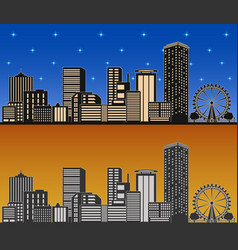 city day and night vector image