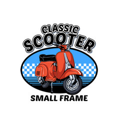 Classic scooter vector