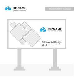 Company bill board design with blue theme with vector