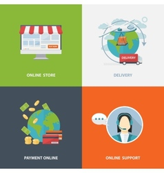 Concept of online shopping vector