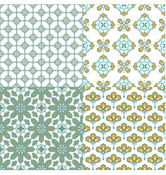 decorative geometric seamless pattern traditional vector image
