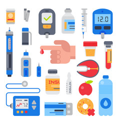diabetes medical care to diabetic and vector image