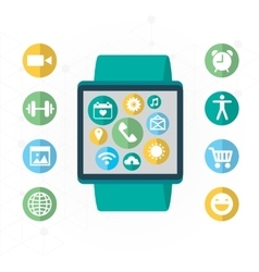 Digital watch with the simmilar smartphones vector image