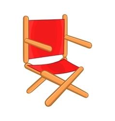 Director chair icon cartoon style vector image