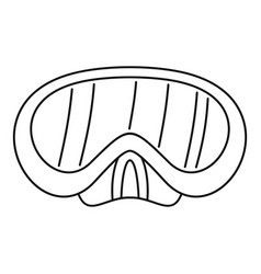 diving mask icon outline style vector image