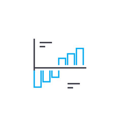 Dynamics analysis thin line stroke icon vector