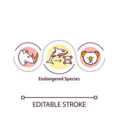 Endangered species concept icon vector