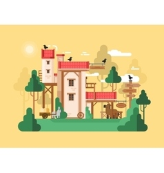 Farmland real estate design flat vector image