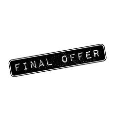 Final Offer rubber stamp vector