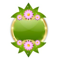 Flower plaque template vector
