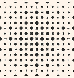 Geometric halftone pattern with circles squares vector