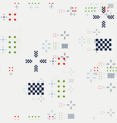 geometric random seamless pattern vector image