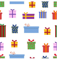 Gift box seamless pattern celebration background vector