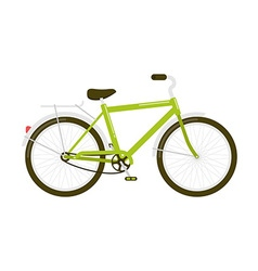 Green bicycle isolated on white vector