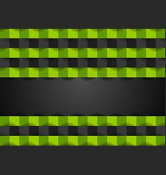 green black squares geometric technology vector image