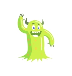 Green Mucus Childish Monster vector image