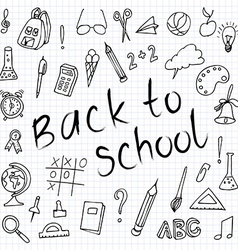 Hand drawn back to school doodles Paper Background vector image vector image