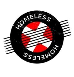 Homeless rubber stamp vector