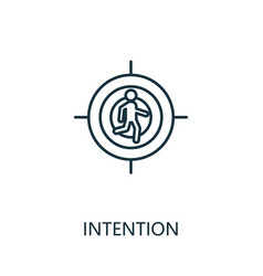 Intention outline icon thin line concept element vector