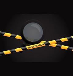 investigation vector image