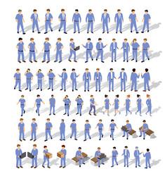 isometric people urban vector image
