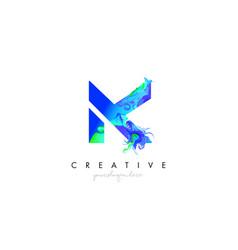 K letter icon design logo with creative artistic vector