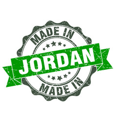 Made in jordan round seal vector